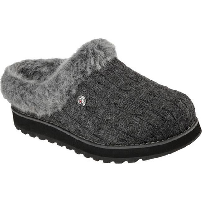 d60d4a09e478 Shop Skechers Women s BOBS Keepsakes Ice Angel Clog Slipper Charcoal ...