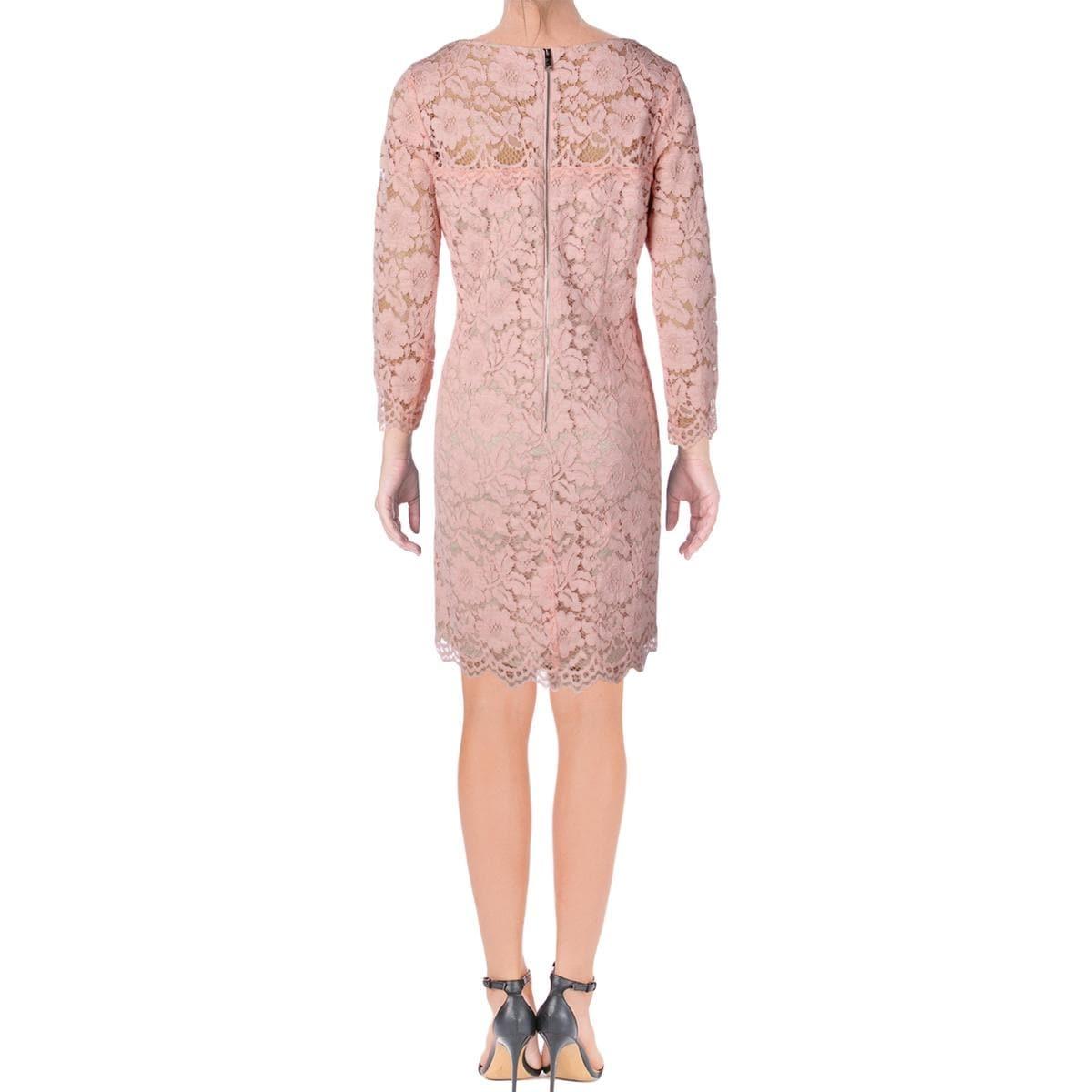 Vince Camuto Womens Party Dress Lace Bateau Neck - 12 - Free ...