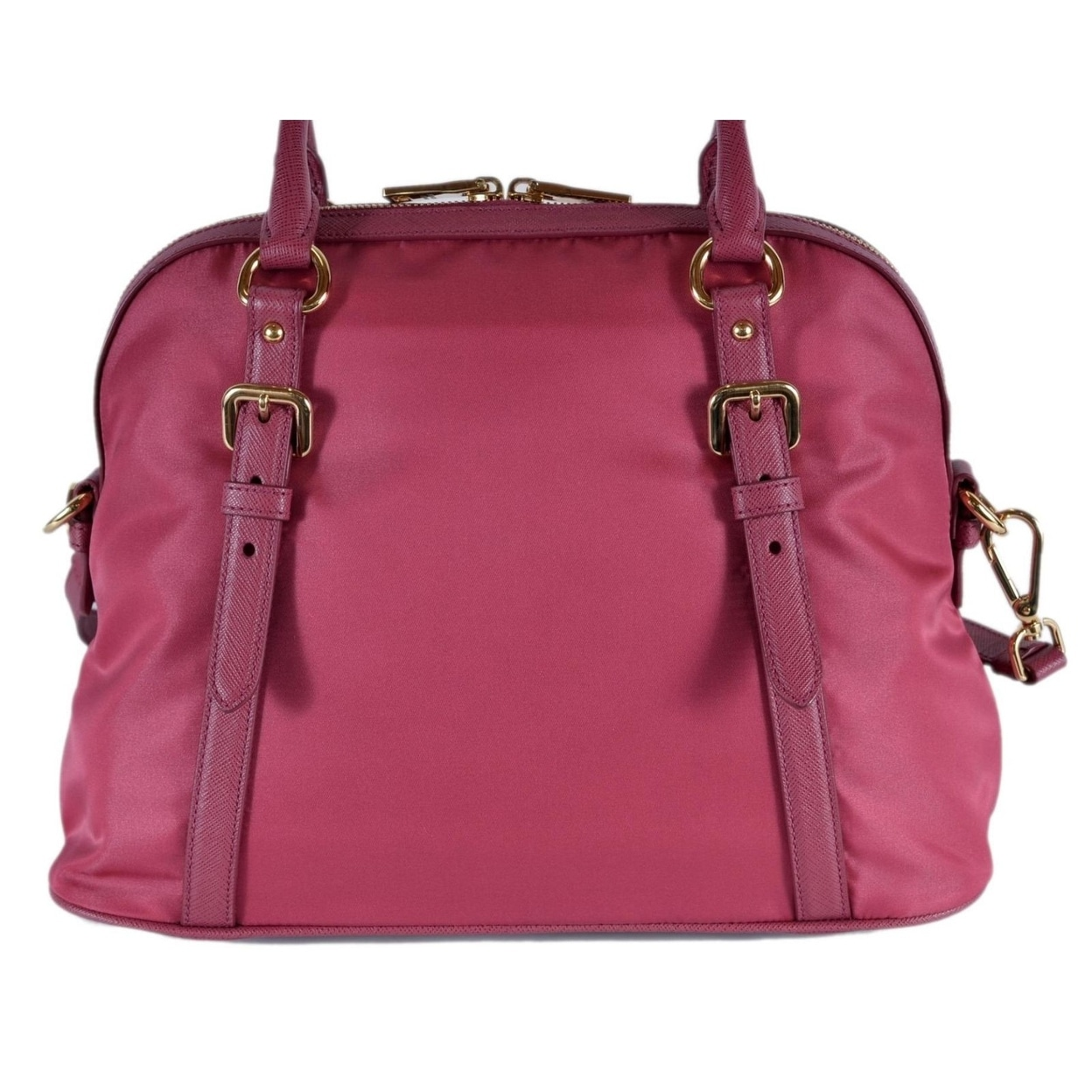 e13e242f1e Shop Prada 1BB013 Tessuto Ibisco Pink Nylon Bauletto Satchel Purse W/Strap  - On Sale - Free Shipping Today - Overstock - 26042646