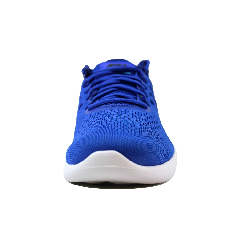 4f26ecb91ff Shop Nike Men s Lunarglide 8 Racer Blue Black AA8676-400 - Free Shipping  Today - Overstock - 21141307