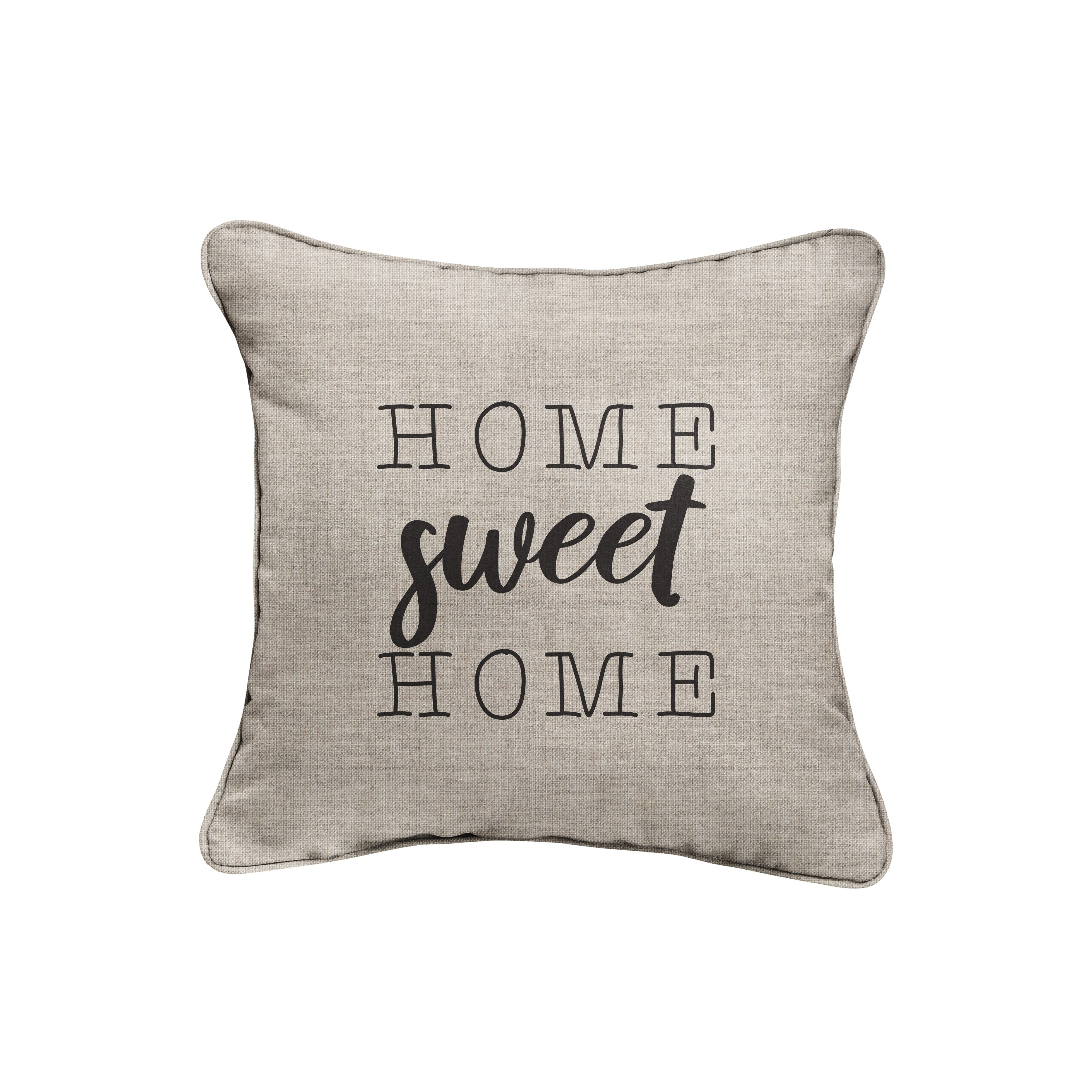 Sunbrella Indoor Outdoor Single Embroidered Pillow Home Sweet Home On Sale Overstock 31053510