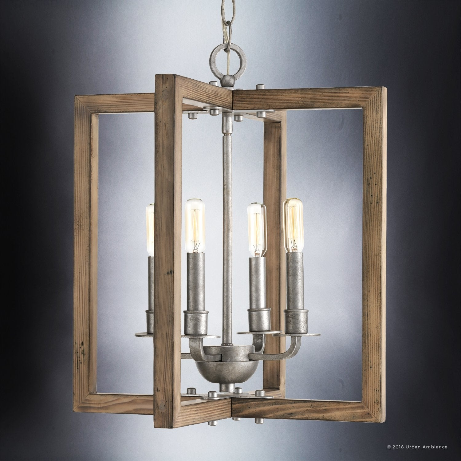 Shop luxury modern farmhouse chandelier 18 75h x 16w with rustic style galvanized steel finish by urban ambiance free shipping today overstock com
