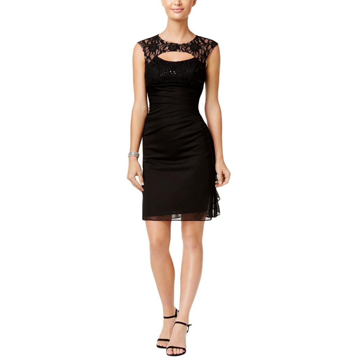 Ba By Betsy And Adam Womens Semi Formal Dress Lace Sequined Free
