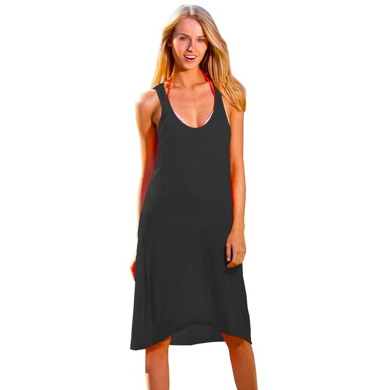 18b9503c1c Shop Ingear Racerback Summer Beach Casual rayon Short Dress Cover Up - On  Sale - Free Shipping On Orders Over $45 - Overstock - 22048038
