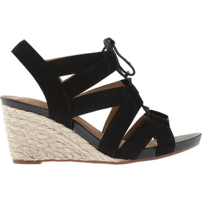 50e1d7366c Shop Clarks Women's Acina Chester Strappy Wedge Black Goat Suede - Free  Shipping Today - Overstock.com - 14391827