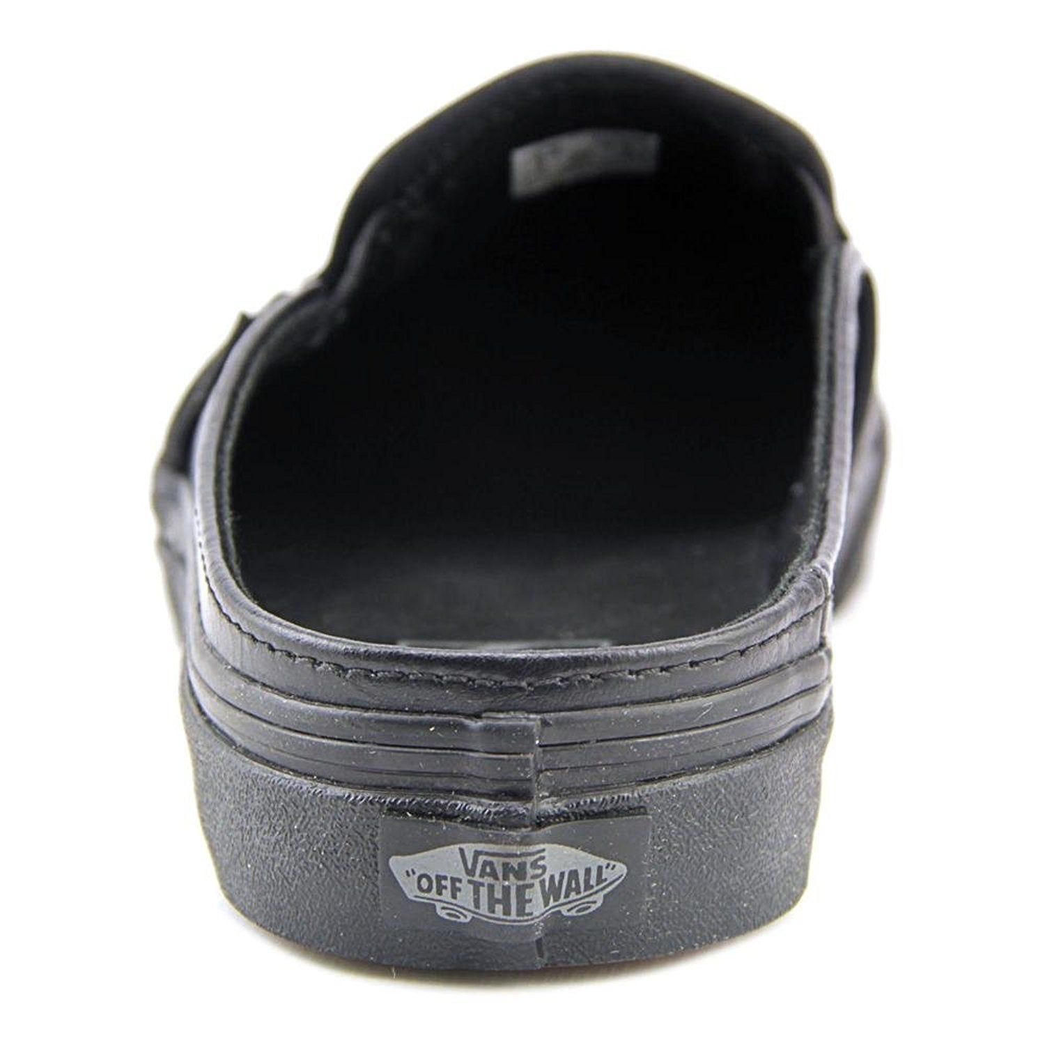 f1296e85101429 Shop Vans Classic Slip-On Mule Women Round Toe Leather Black Mules ...