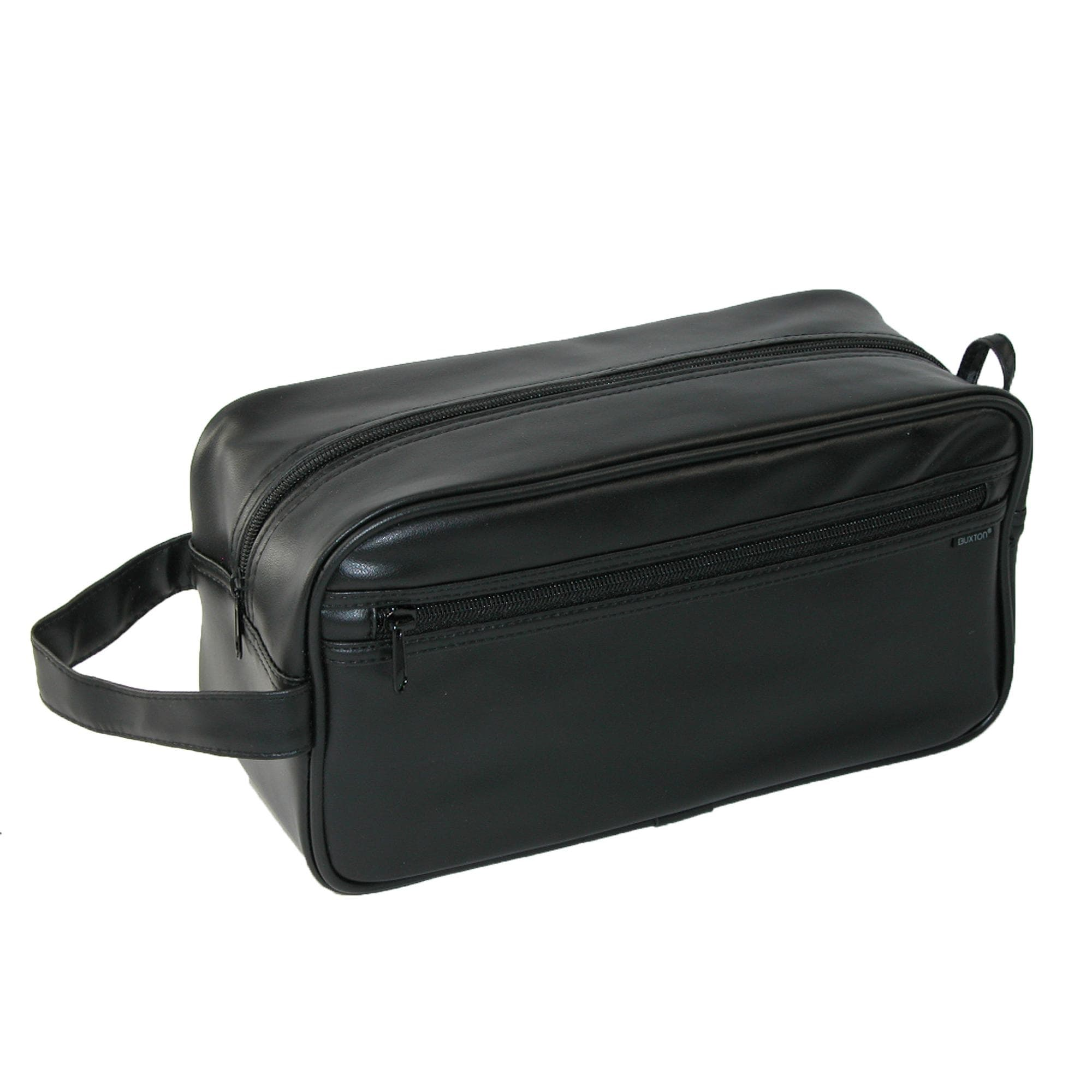 c9c4be3ae059 Shop Buxton Men s PVC Travel Toiletry Bag - Black - Free Shipping On Orders  Over  45 - Overstock - 18436135