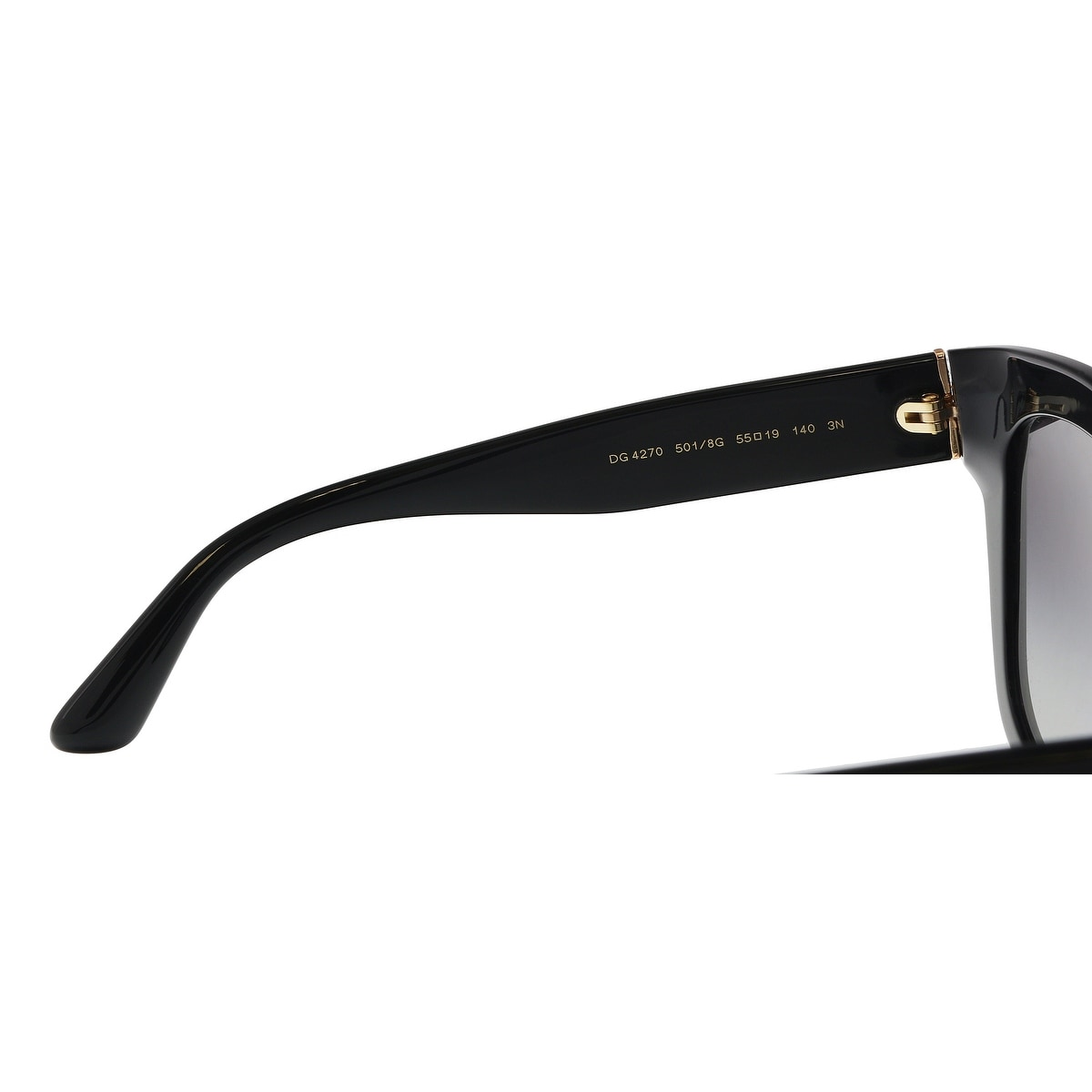 e76c234a398 Shop Dolce   Gabbana DG4270 501 8G Black Square Sunglasses - 55-19-140 -  Free Shipping Today - Overstock - 21157980