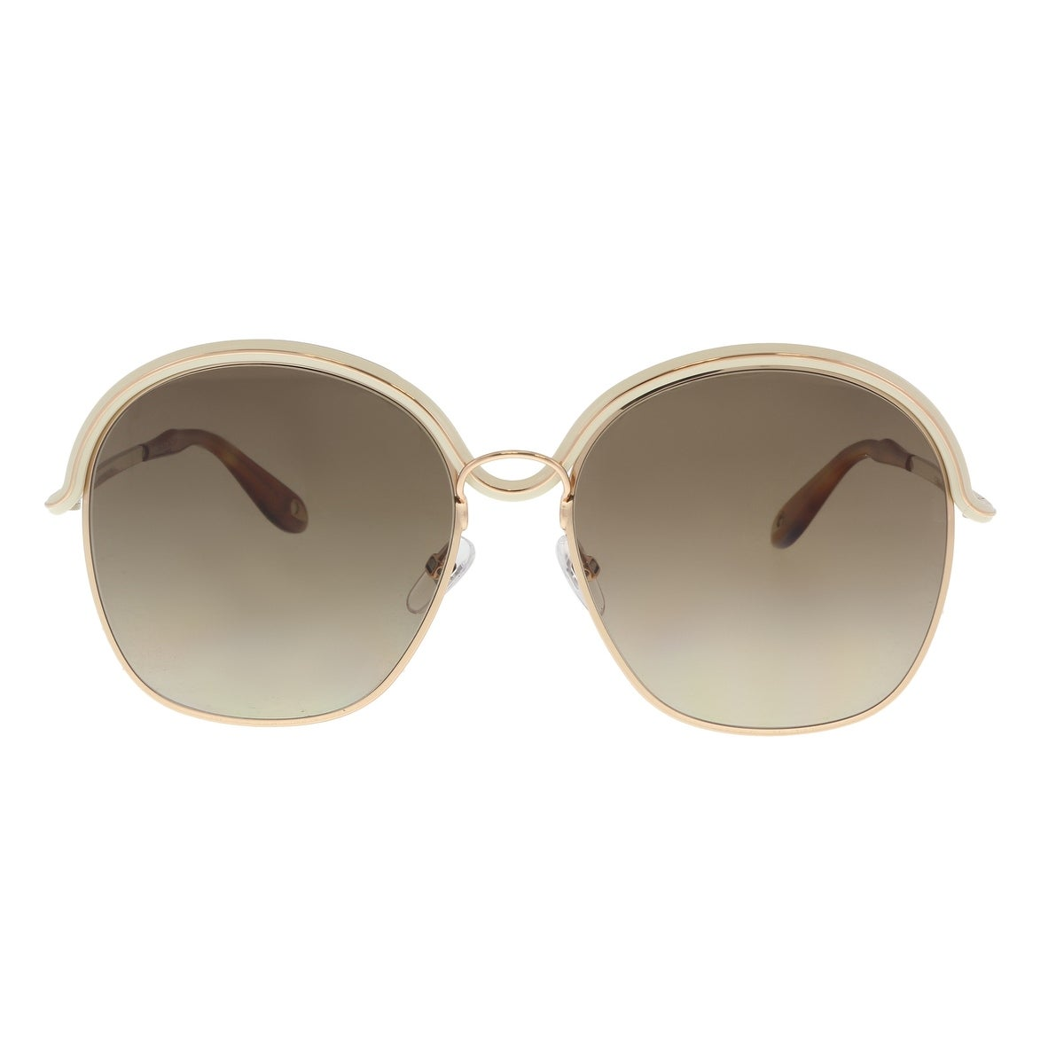 bd70281d8c66 Shop Givenchy GV7030S 0J1O Gold Beige Oval Sunglasses - 58-17-140 - Free  Shipping Today - Overstock - 21158338
