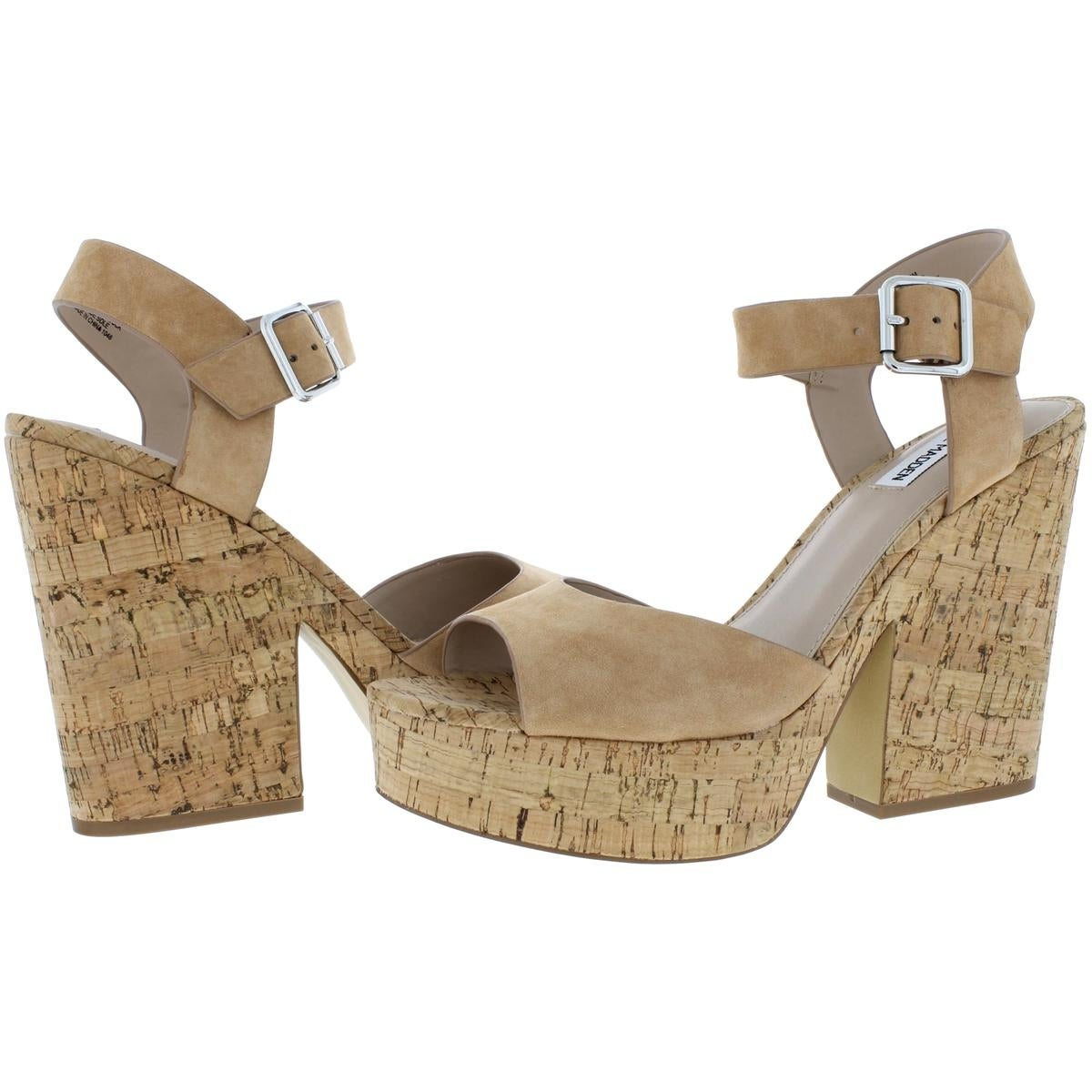 daeaddca964 Steve Madden Womens Leighton Platform Sandals Open Toe Slingback