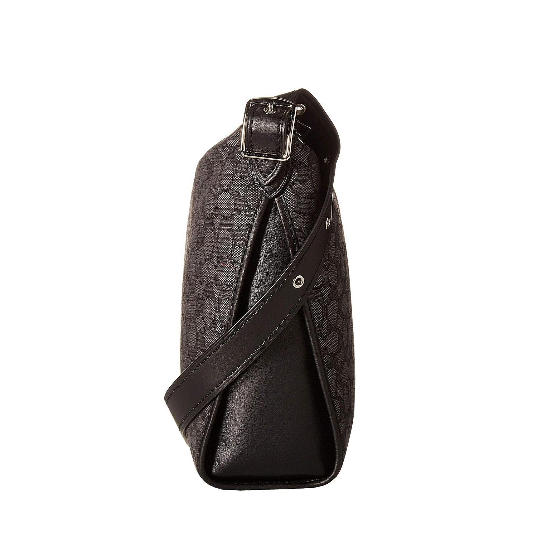 2153711ef1bd Shop Coach Signature Jacquard Crossbody Dufflette Black Smoke - One Size - Free  Shipping Today - Overstock - 26419684