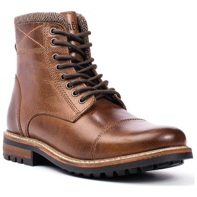 413f838e0d8 Crevo Men's Camden Chestnut Leather/Herringbone