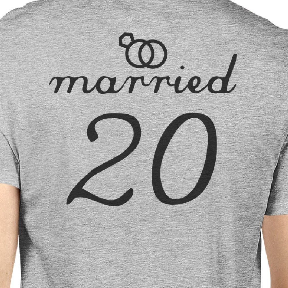 a25a9519a6 Shop Married Since Cute Anniversary Gift Matching Couple T-Shirts Grey - On  Sale - Free Shipping On Orders Over $45 - Overstock - 23108326