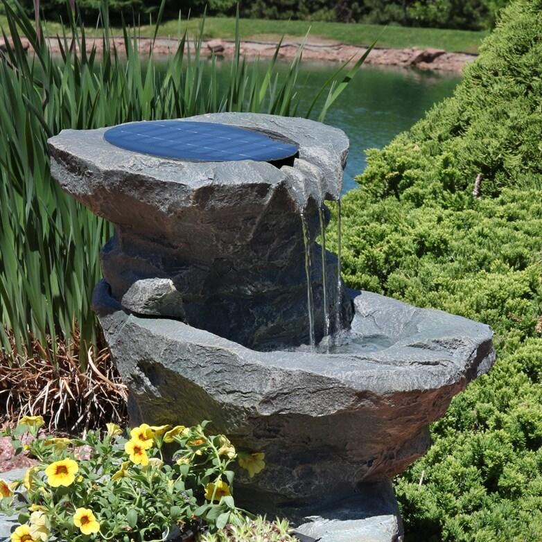 Shop Sunnydaze Solar Garden Backyard Outdoor Water Fountain With
