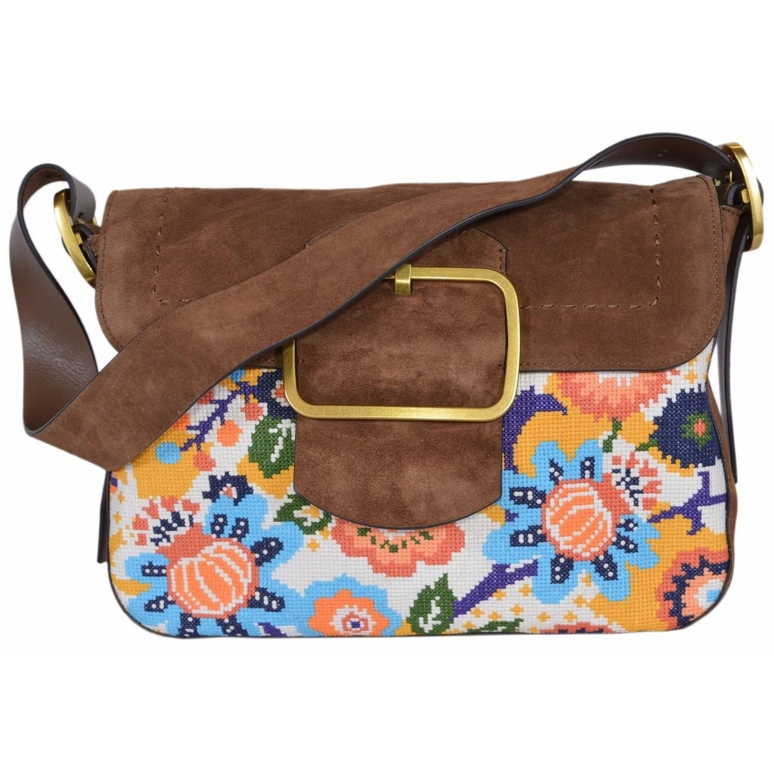 Shop tory burch suede needlepoint sawyer martora shoulder bag purse jpg  1091x1091 Tory burch suede bag b1cb58d3615