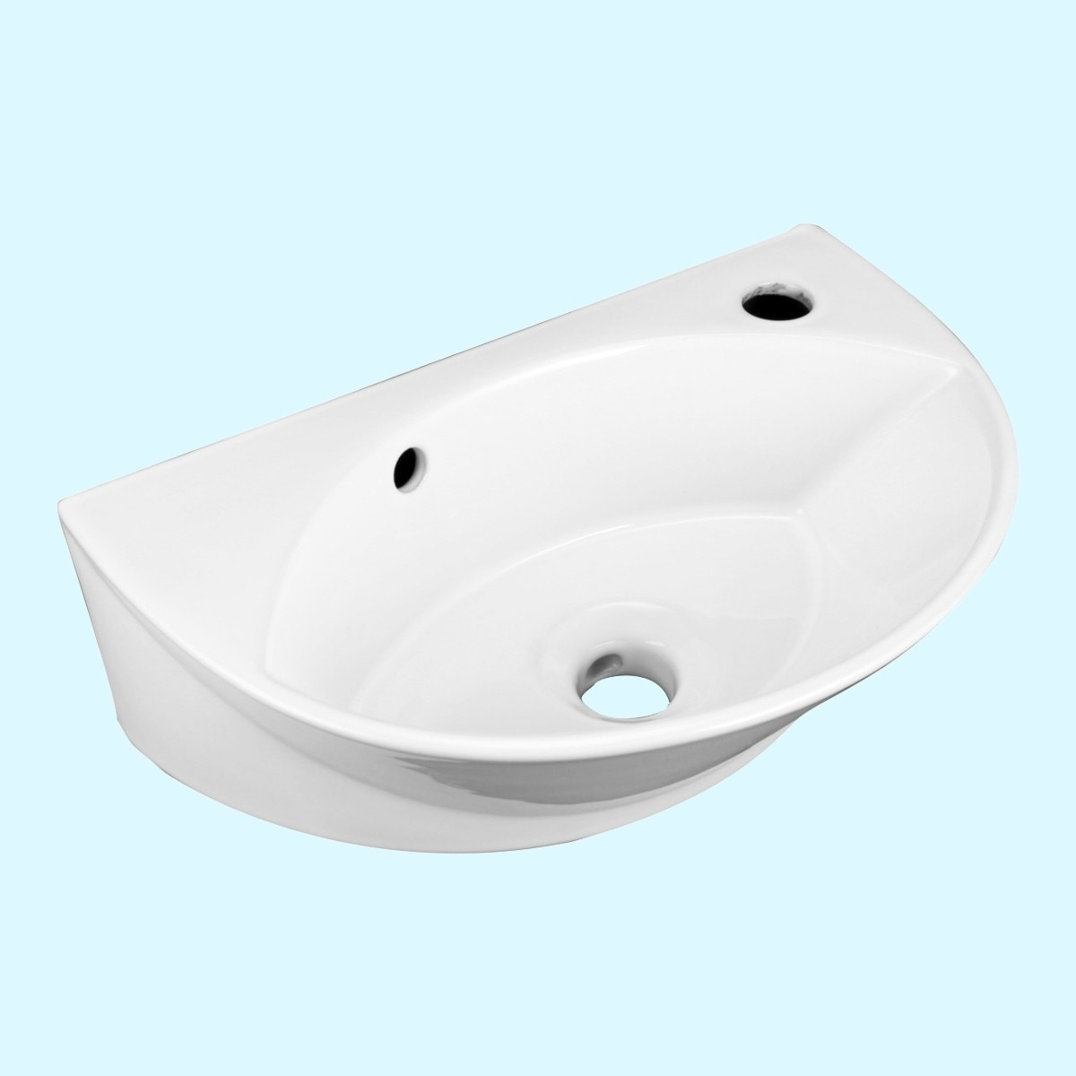 Shop Renovator S Supply Small White Porcelain Wall Mount Bathroom