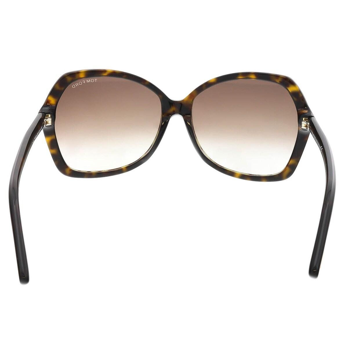 9fd9a96ff747 Shop Tom Ford FT0328 S 52F CAROLA Havana Square Sunglasses - Free Shipping  Today - Overstock.com - 23005303