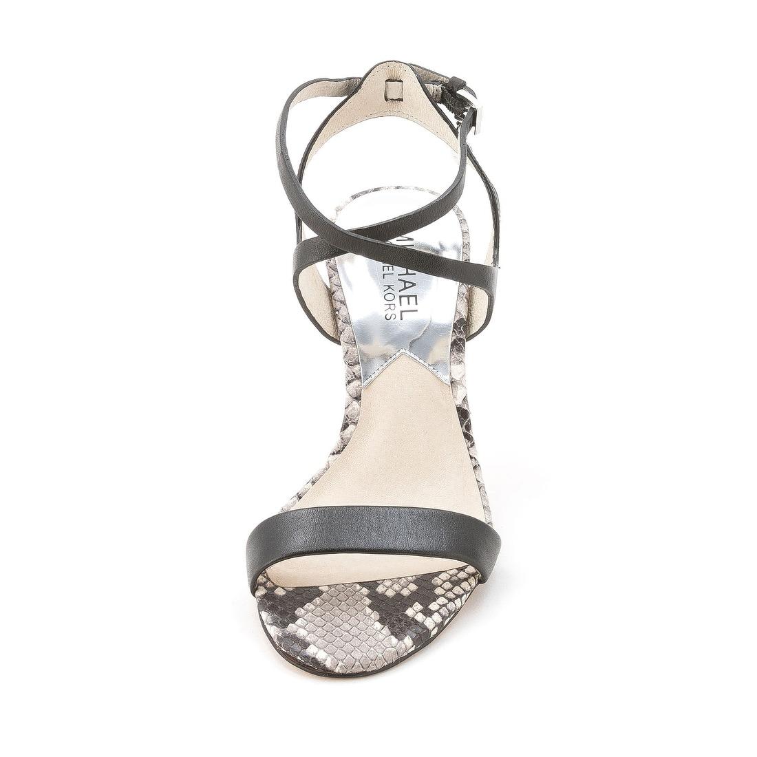 f5426e3ec7326 MICHAEL Michael Kors Womens Kaylee Mid Leather Open Toe Casual