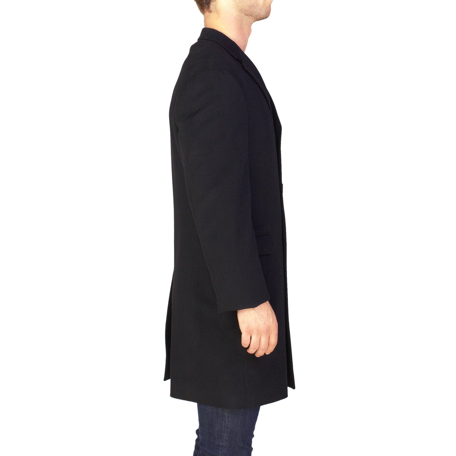 542c028b335 Shop Yves Saint Laurent Men's Virgin Wool Trench Coat Jacket Black - 42 -  Free Shipping Today - Overstock - 17167739