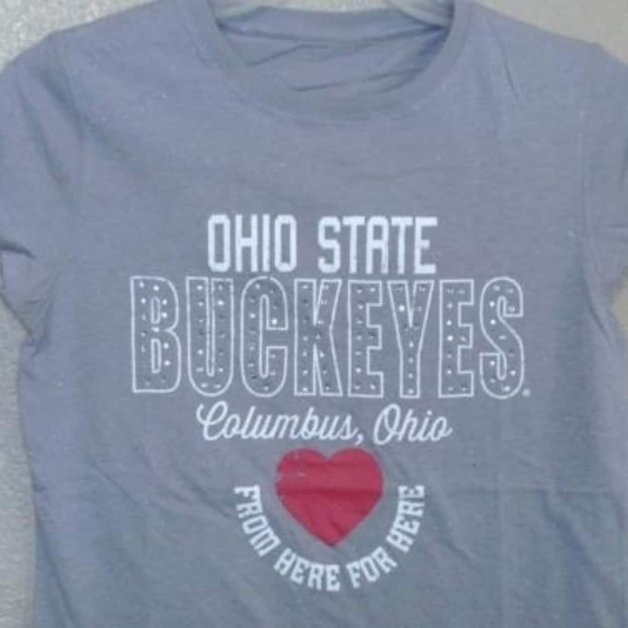 Home Roots State Ohio OH Womens Slouchy 3//4 Sleeves Raglan Sweatshirt Sport Grey