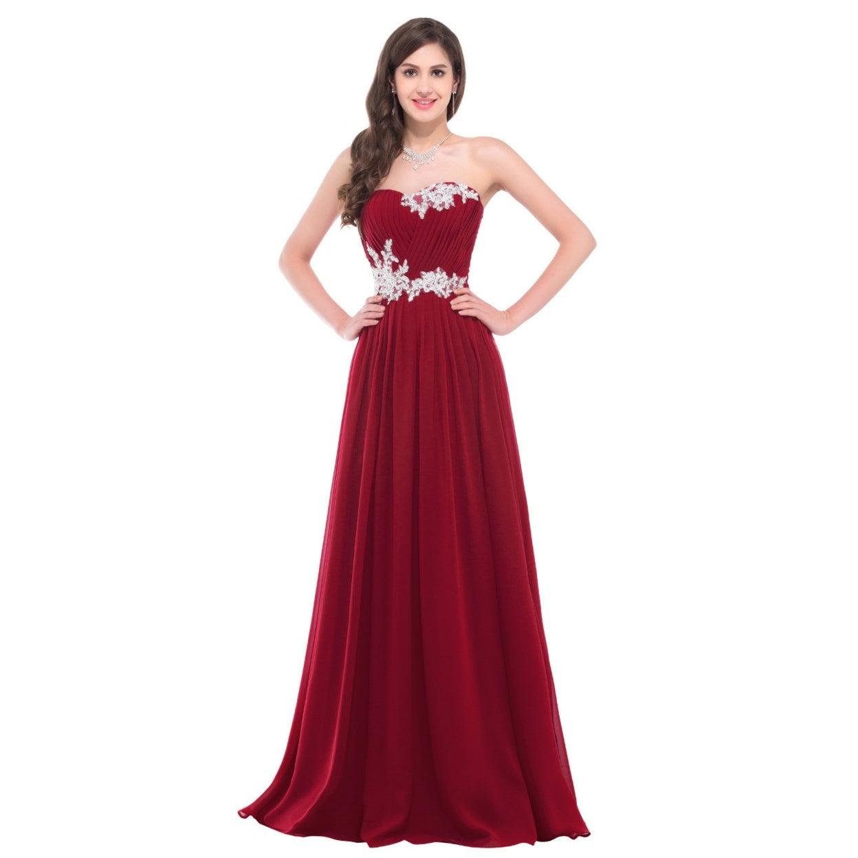Shop Evening Dresses Long Chiffon Summer Evening Gowns Women Pink ...