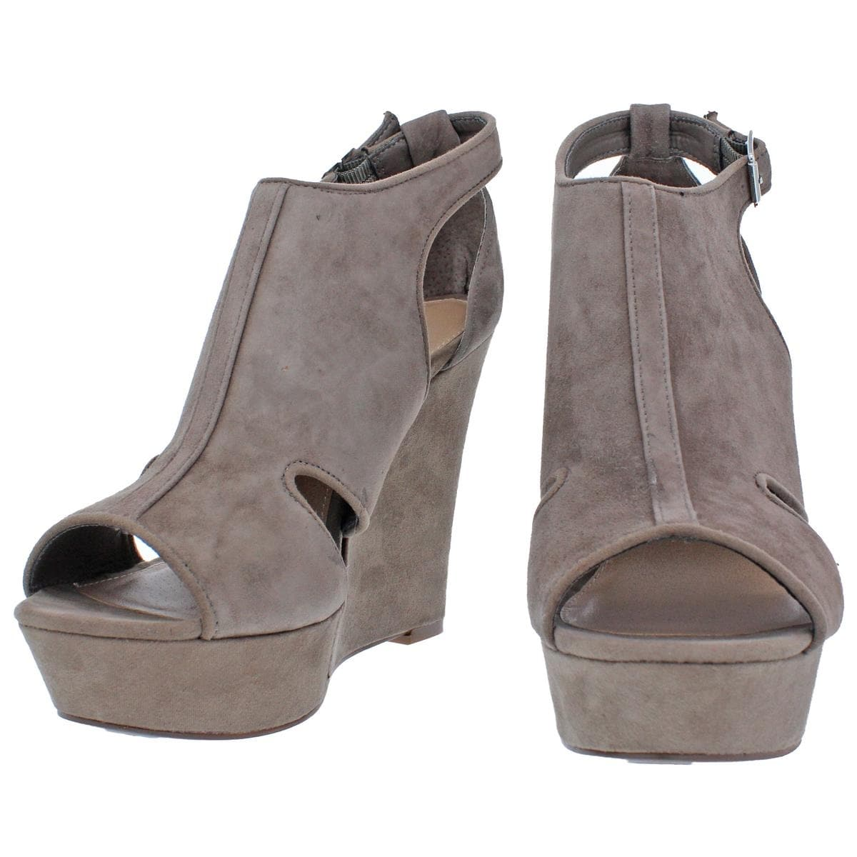 d707ebd0ab57 Shop Steve Madden Womens Natalie Wedge Sandals Open Toe Cut-Out - 9.5 medium  (b