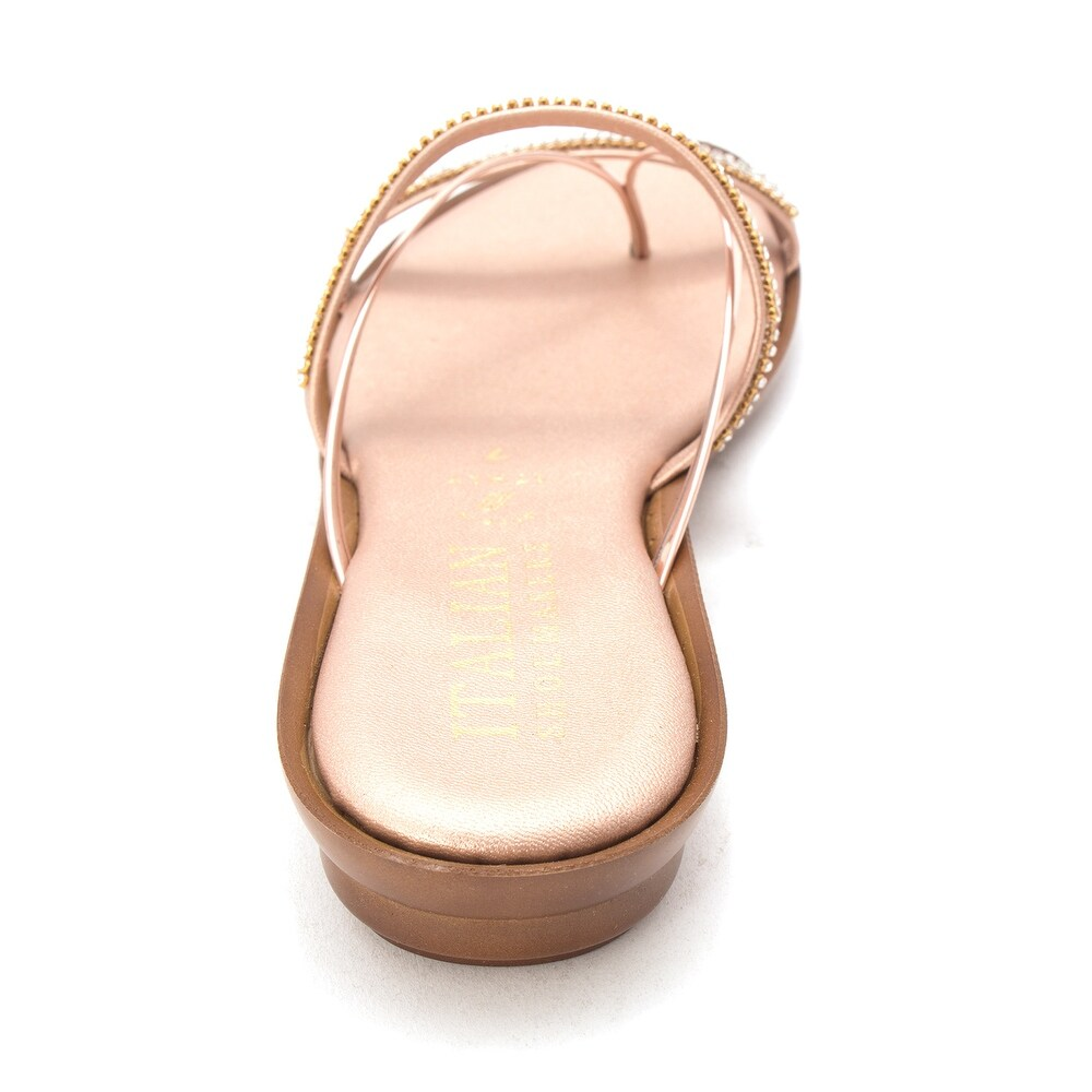 58e5eeb56d Shop ITALIAN Shoemakers Womens 4046V8 Jewel Wedge Open Toe Casual Slide  Sandals - Free Shipping Today - Overstock - 21719485