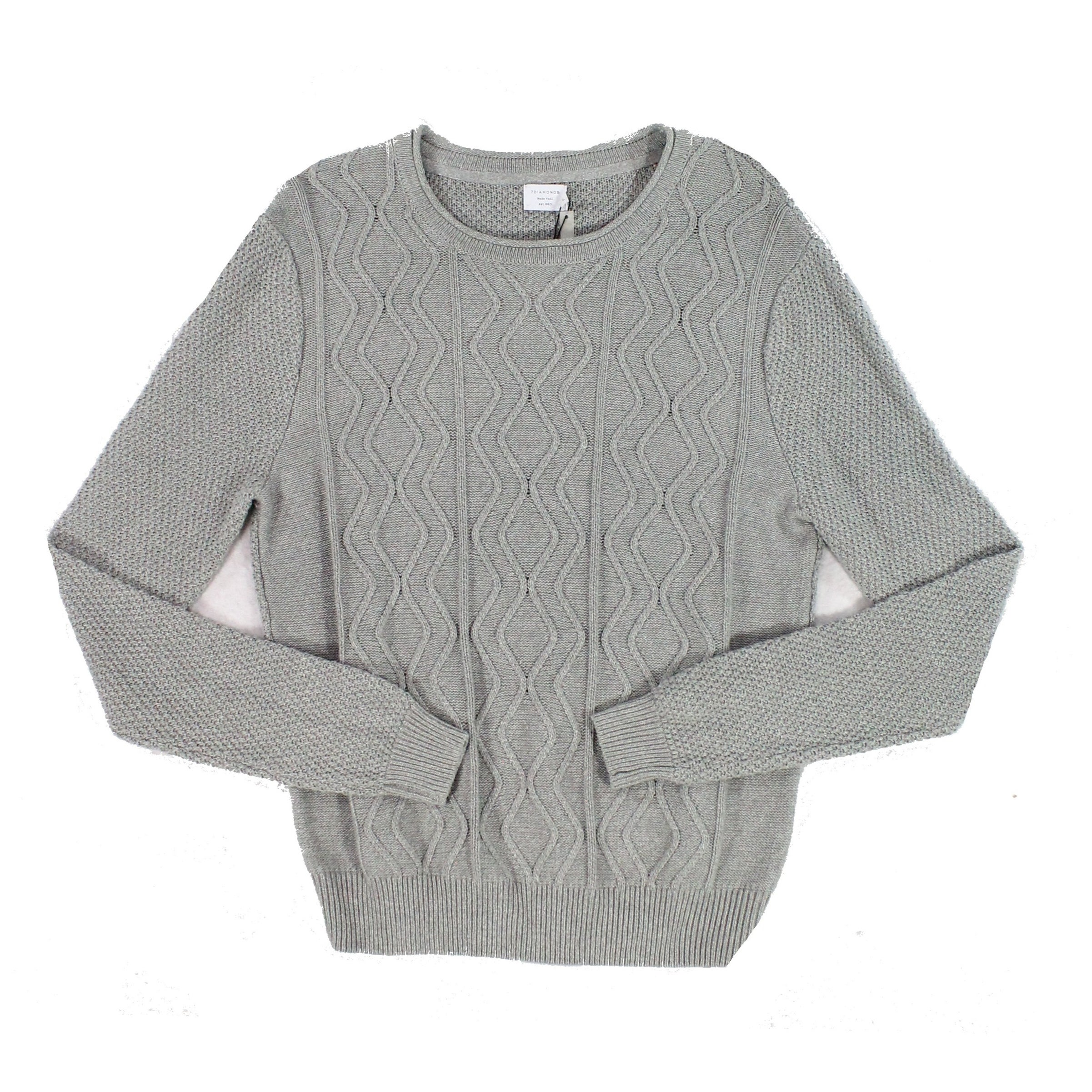 Shop 7 Diamonds Mens Cable Knit Crewneck Pullover Sweater - Free Shipping  On Orders Over  45 - Overstock.com - 26994170 ef3c0d4e8
