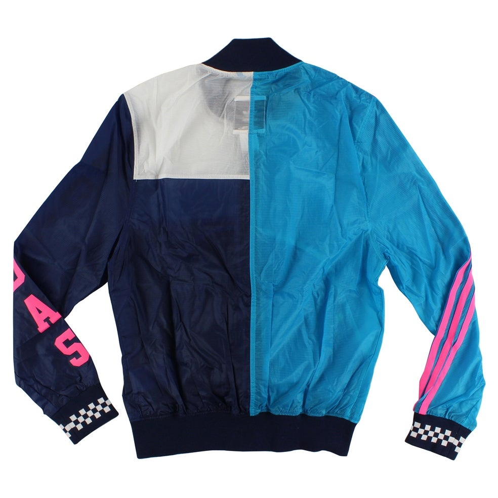 f931e2744cbd9 Shop Adidas Womens Racing Long Sleeve Jacket Collegiate Navy - Collegiate  Navy White Hot Pink Sky Blue - Free Shipping Today - Overstock - 22573976