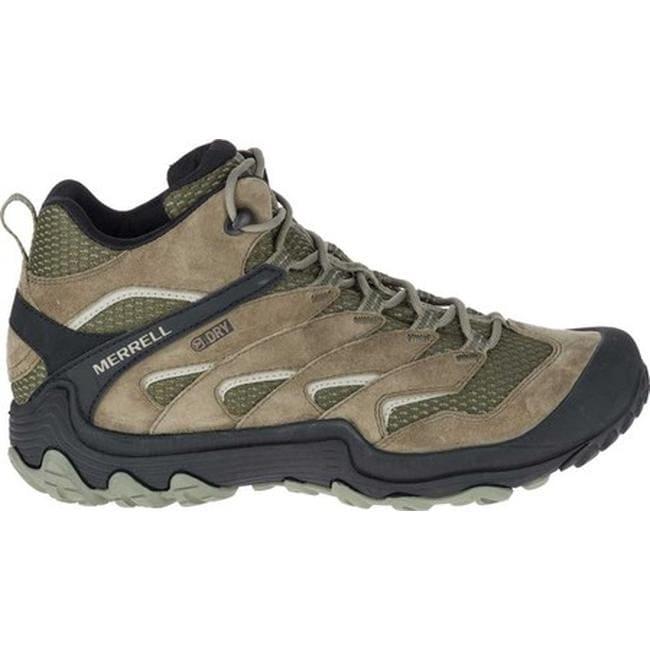 7f36261041 Merrell Men's Chameleon 7 Limit Mid Waterproof Hiking Boot Dusty Olive  Suede/Mesh