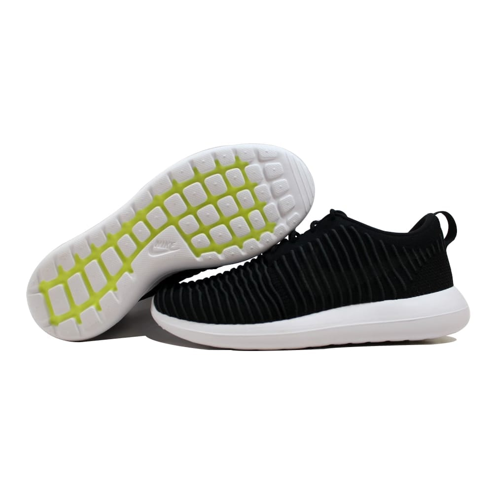 pretty nice 30066 5b7d4 Nike Roshe Two Flyknit Black/Dark Grey-White-Volt 844833-001 Men's