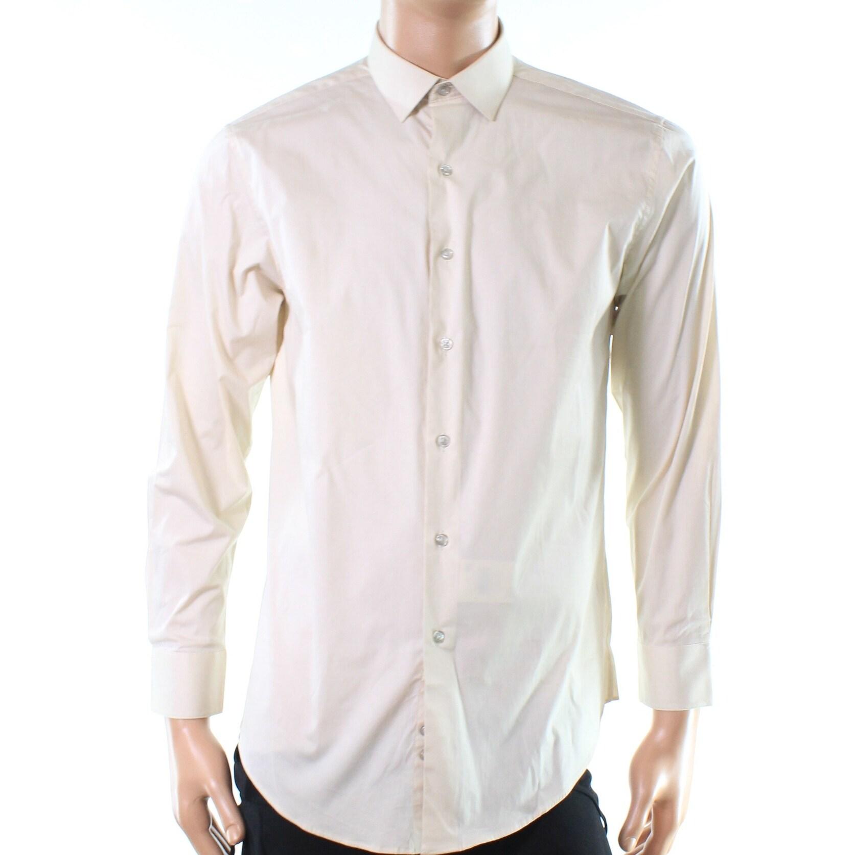 Shop Alfani New Ivory Mens Size Medium M Stretch Slim Fit Dress