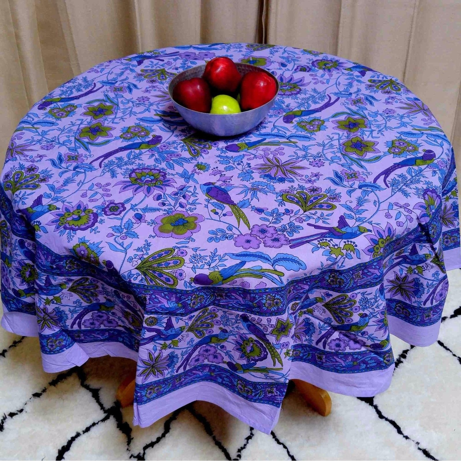 shop handmade birds of paradise 100 cotton floral tablecloth 66