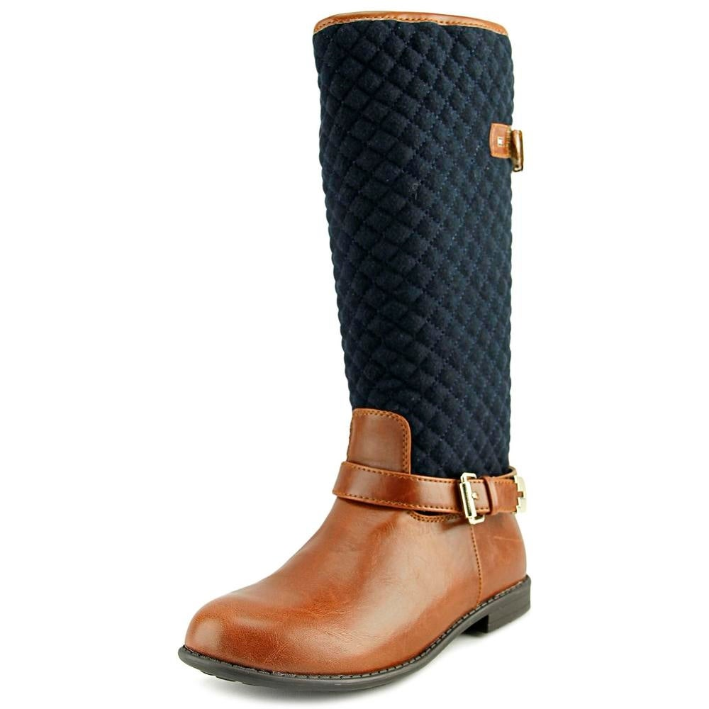 14ee41117 Tommy Hilfiger Andrea Equestrian Youth Round Toe Canvas Multi Color Boot