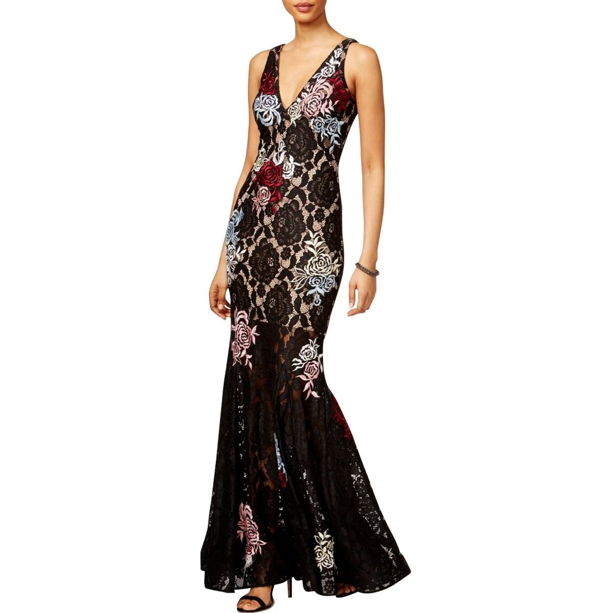 Shop Betsy & Adam Womens Evening Dress Full-Length Embroided - 12 ...