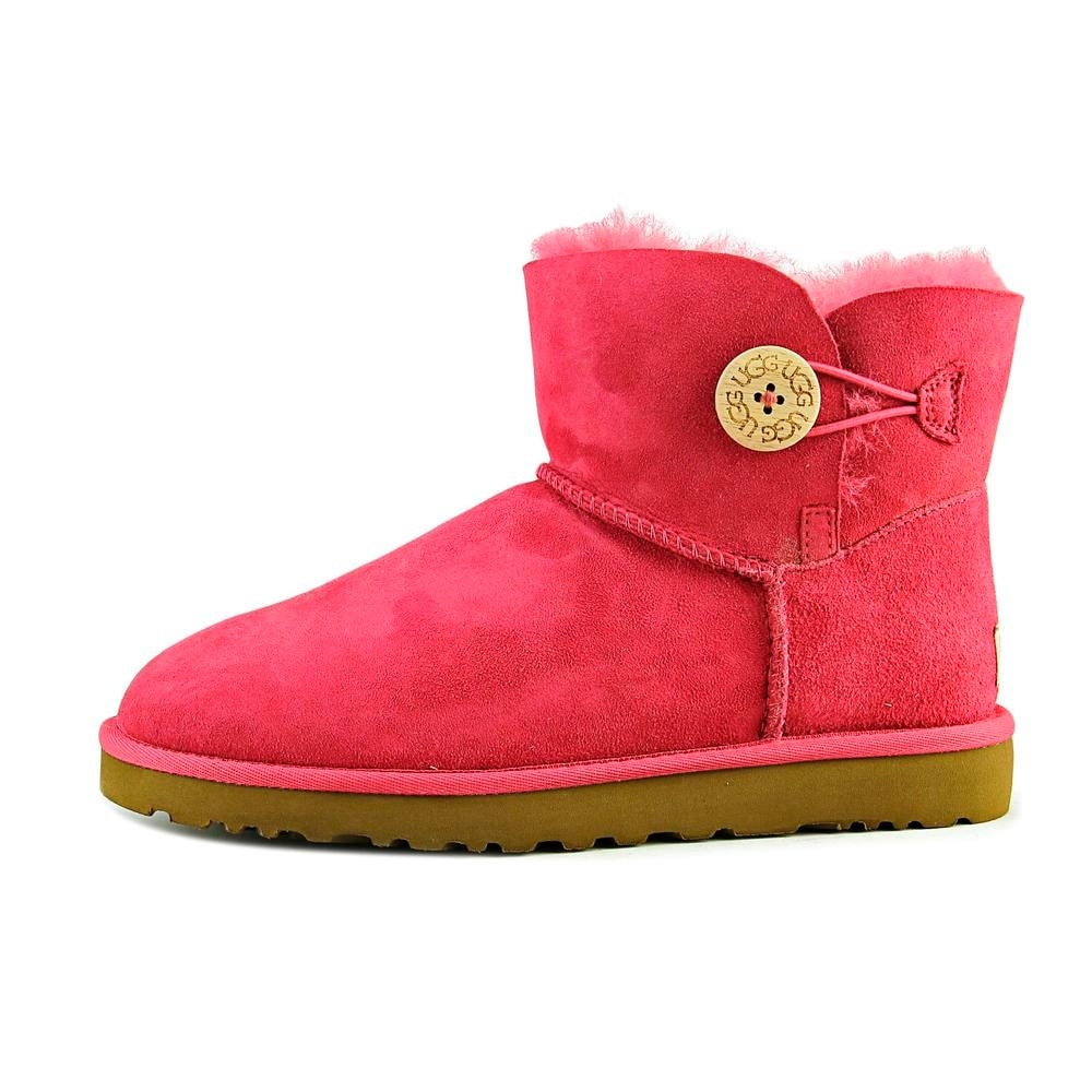 c7d931eee ... usa shop ugg australia mini bailey button women round toe suede red  winter boot free shipping ...