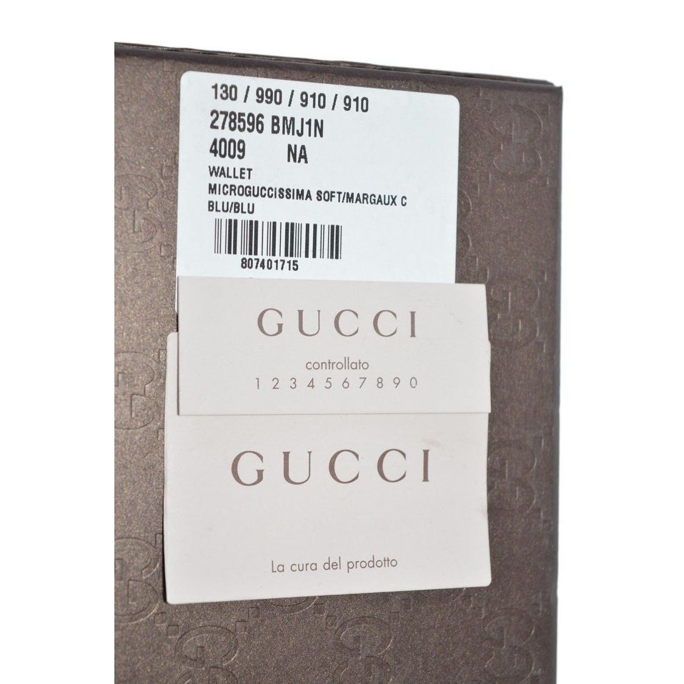 3c4bac1e9c50 Shop Gucci Men's 278596 Dark Blue Micro GG Guccissima Large Bifold Wallet -  5 x 3.75 inches - Free Shipping Today - Overstock - 22085464