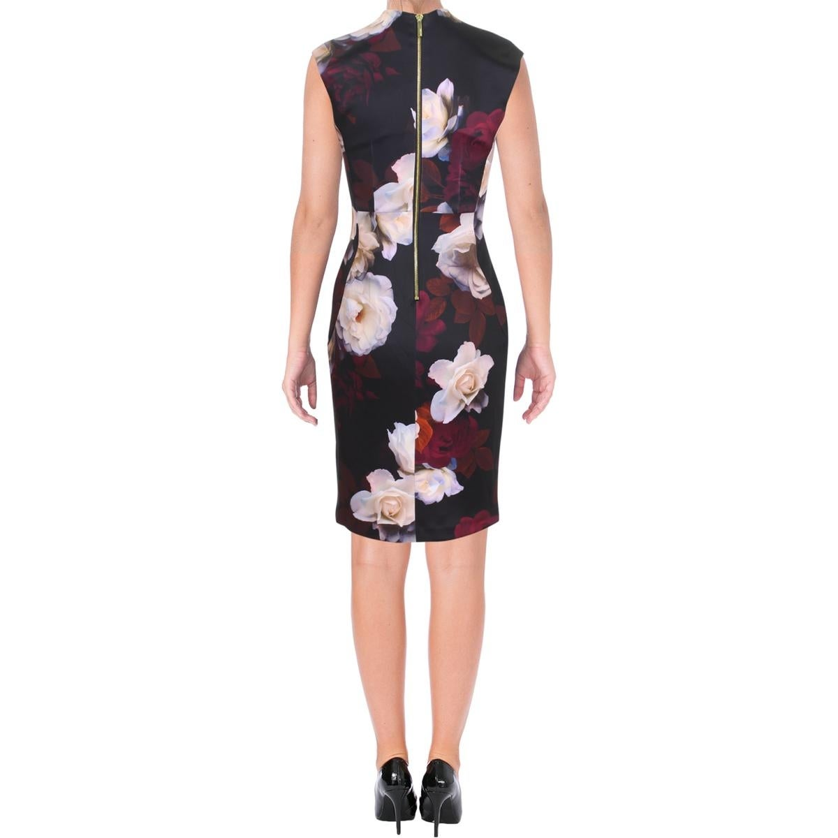 6fa6c42e93a Shop Calvin Klein Womens Cocktail Dress Floral Print Knee-Length - Free  Shipping Today - Overstock - 24219881