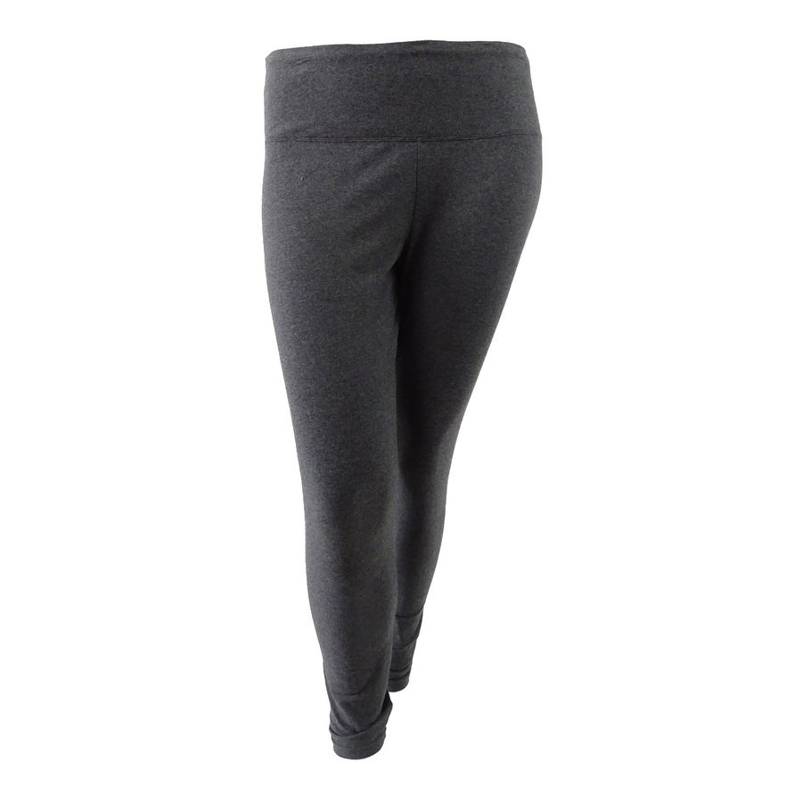 e83ae0387c Shop Style & Co. Women's Plus Size Tummy-Control Leggings - Charcoal  Heather - On Sale - Free Shipping On Orders Over $45 - Overstock - 20564577