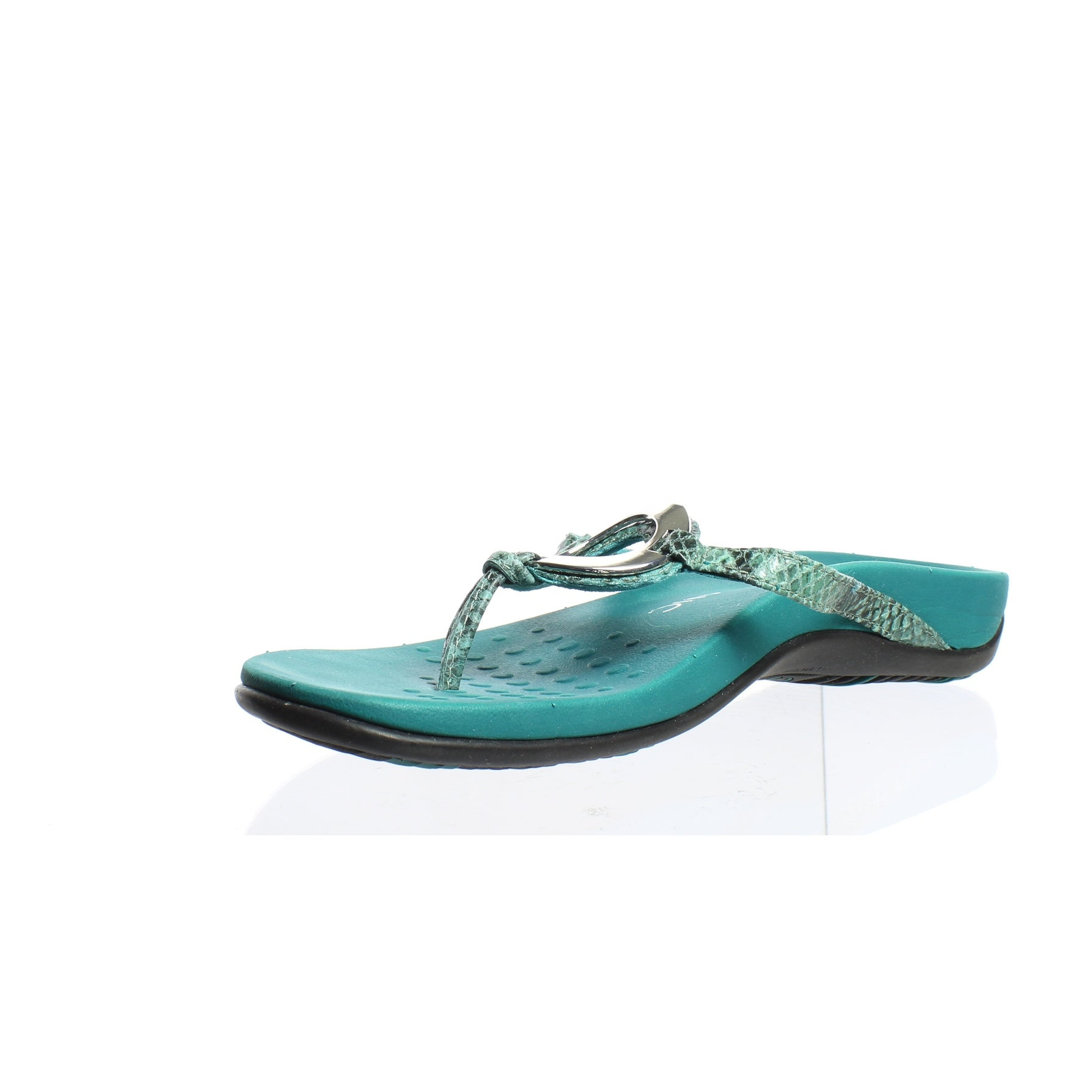 2592c5001dd9 Shop Vionic Womens Karina Teal Snake Flip Flops Size 7 - Free Shipping  Today - Overstock - 24209289