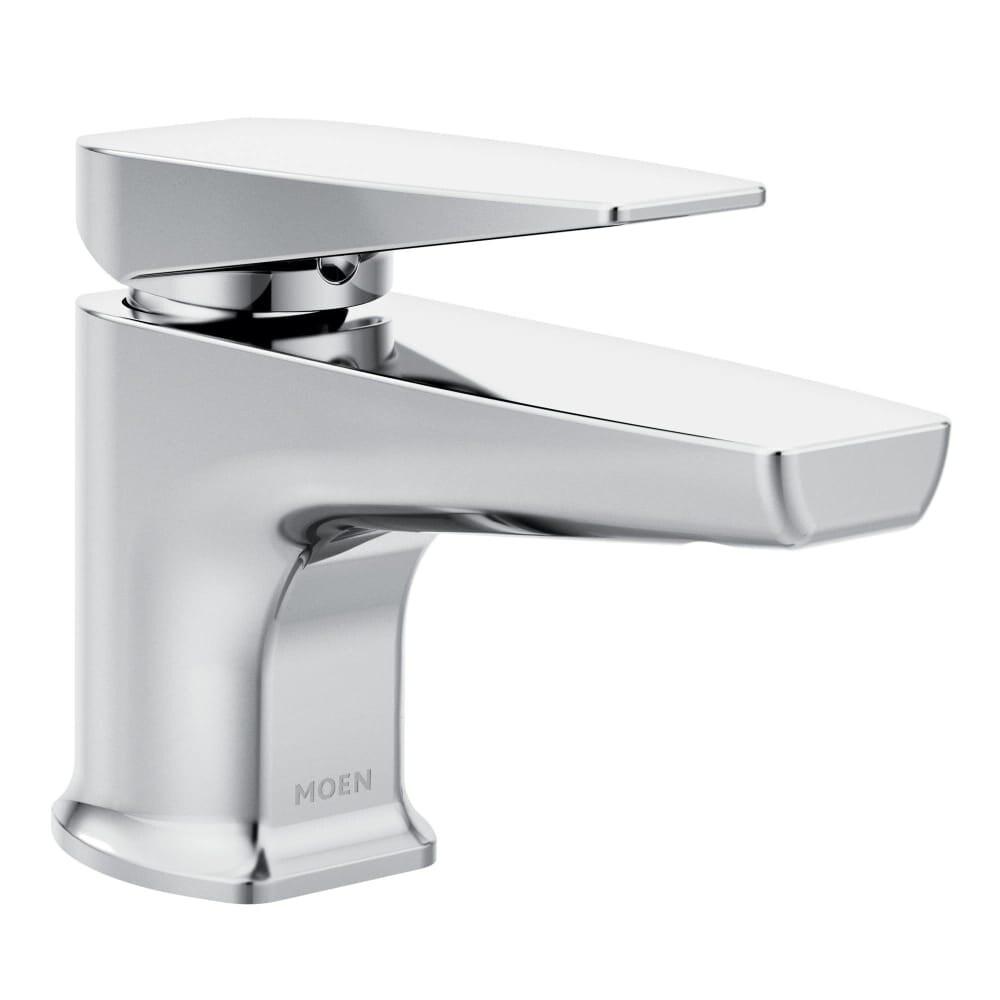 Shop Moen S8001 Via Single Hole Bathroom Faucet with Metal Pop-up ...