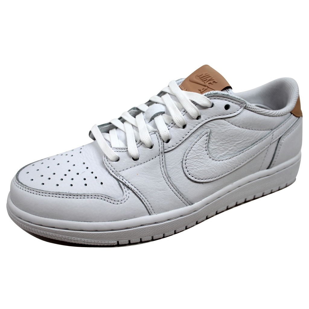watch 140b6 ed7c2 Nike Men s Air Jordan 1 Retro Low OG Premium White Vachetta Tan-White  905136-100