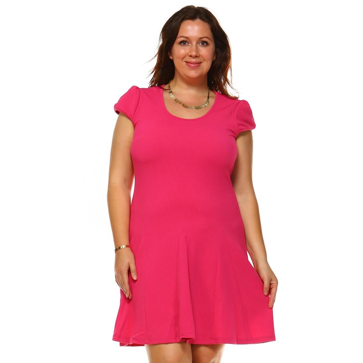 Plus Size Cara Dress - Fuchsia