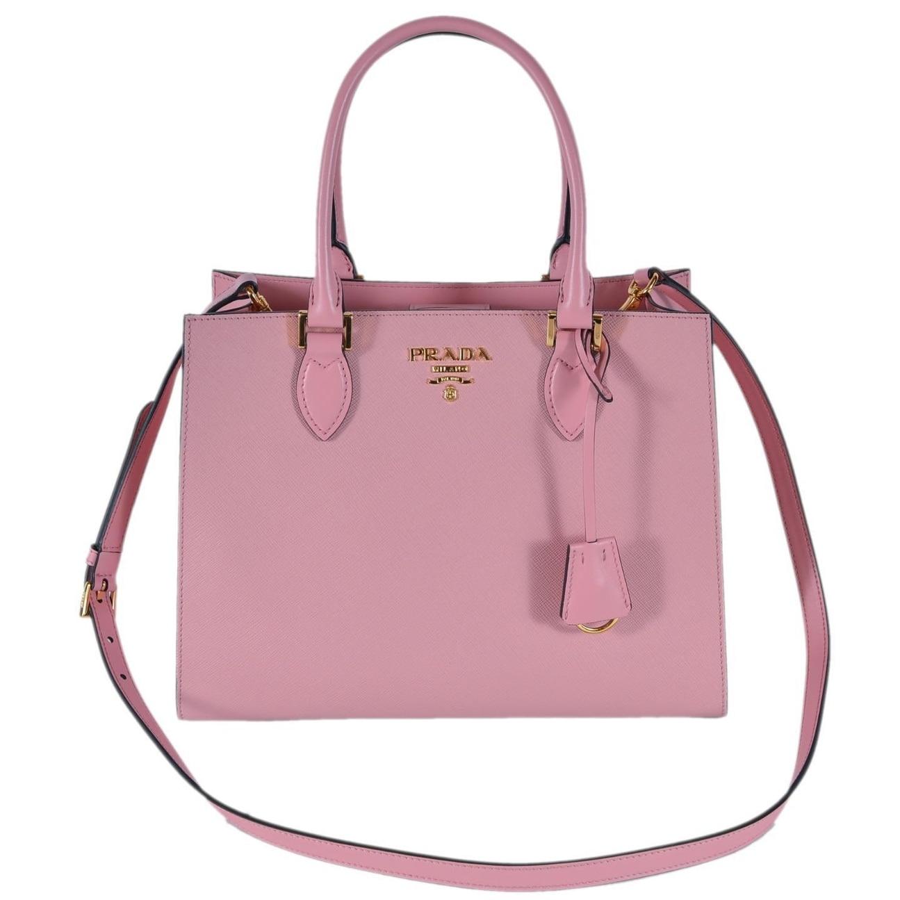 Shop Prada 1BA118 Petalo Pink Saffiano Leather Lux Convertible Purse  Handbag Tote - Free Shipping Today - Overstock - 25438309 a138abb448a89