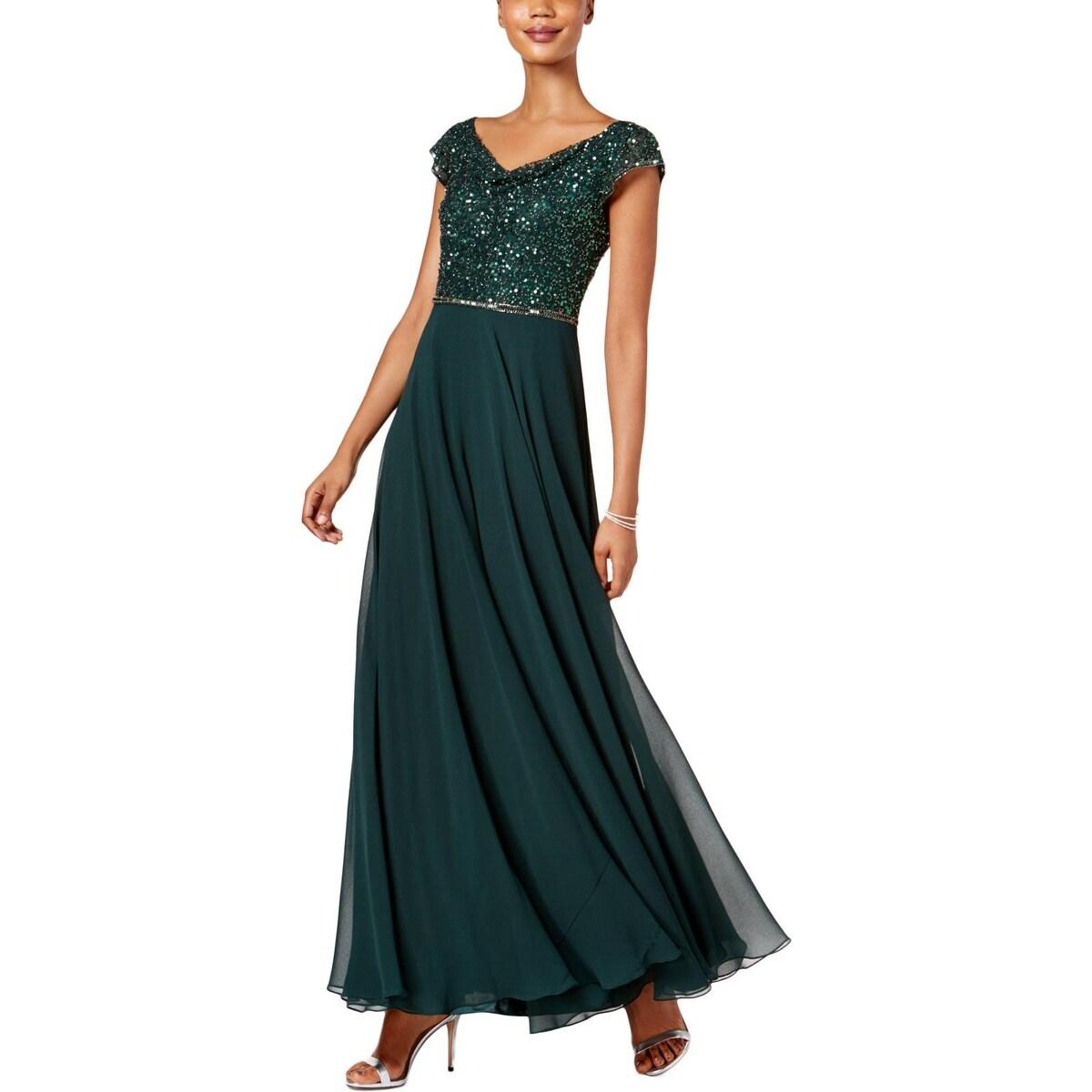 5d8ac86f568 Shop J Kara Womens Mother of the Bride Dress Chiffon Embellished - 6 ...