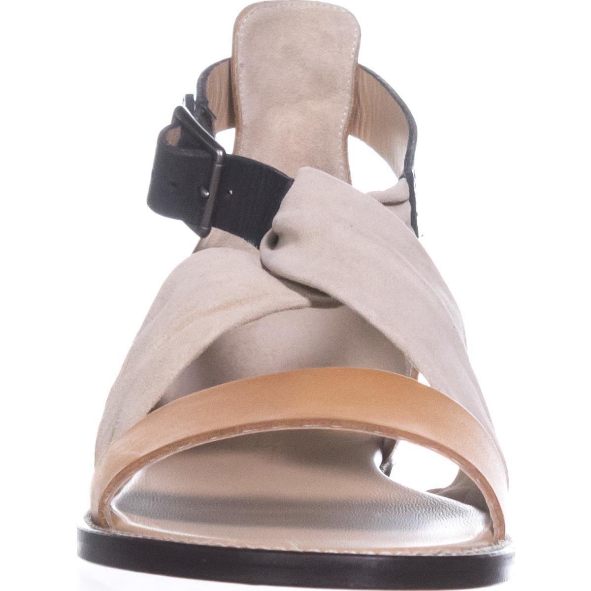 Shop Belstaff Tallon Ankle Strap Flat Sandals Cream Tan Black Sandal Strape On Free Shipping Today 21162878