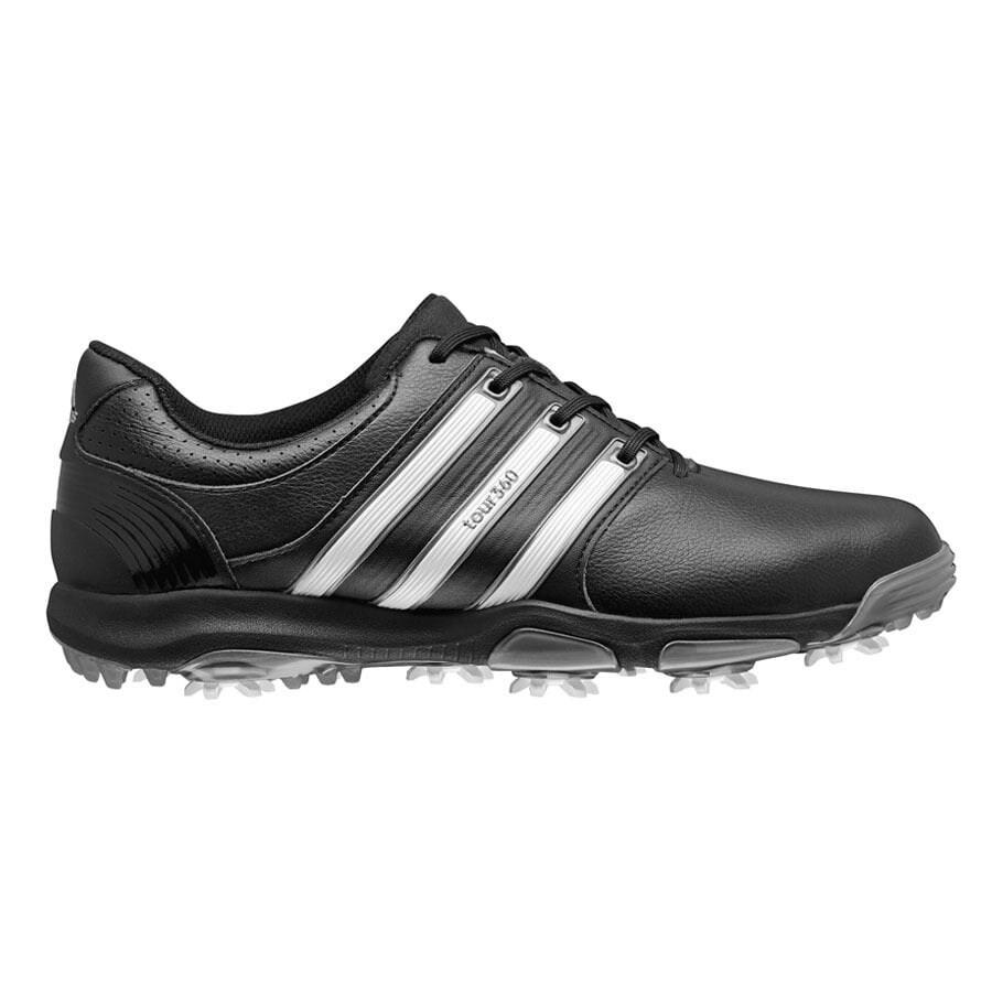 91c75f43c0b8 Adidas Men s Tour 360 X Black FTW White Dark Silver Golf Shoes Q47032    Q47055