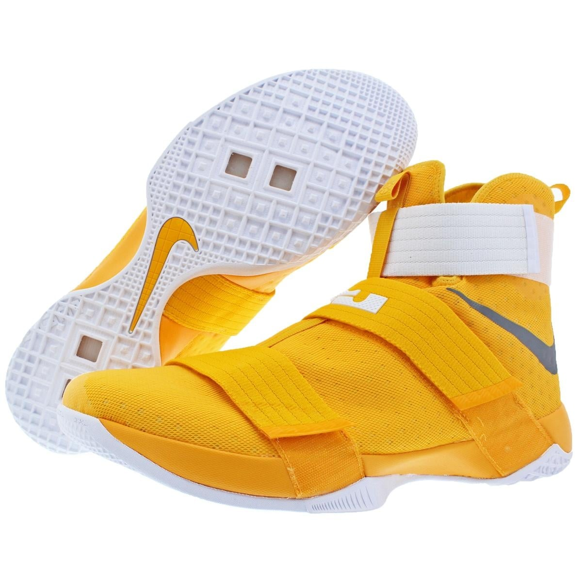 best website e5367 2cb84 ... new york 2dfbd 235d6 low price shop nike lebron soldier 10 mens mesh  high top basketball shoes yellow size 18 ...