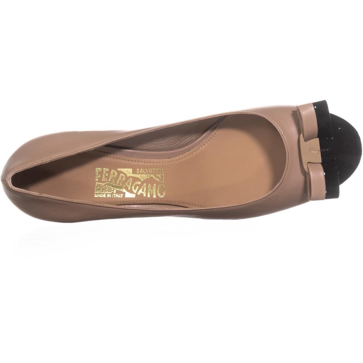 5c6d78f4a88 Shop Salvatore Ferragamo Elea Block Heel Pumps, Nero Patent - On Sale -  Free Shipping Today - Overstock - 22414513