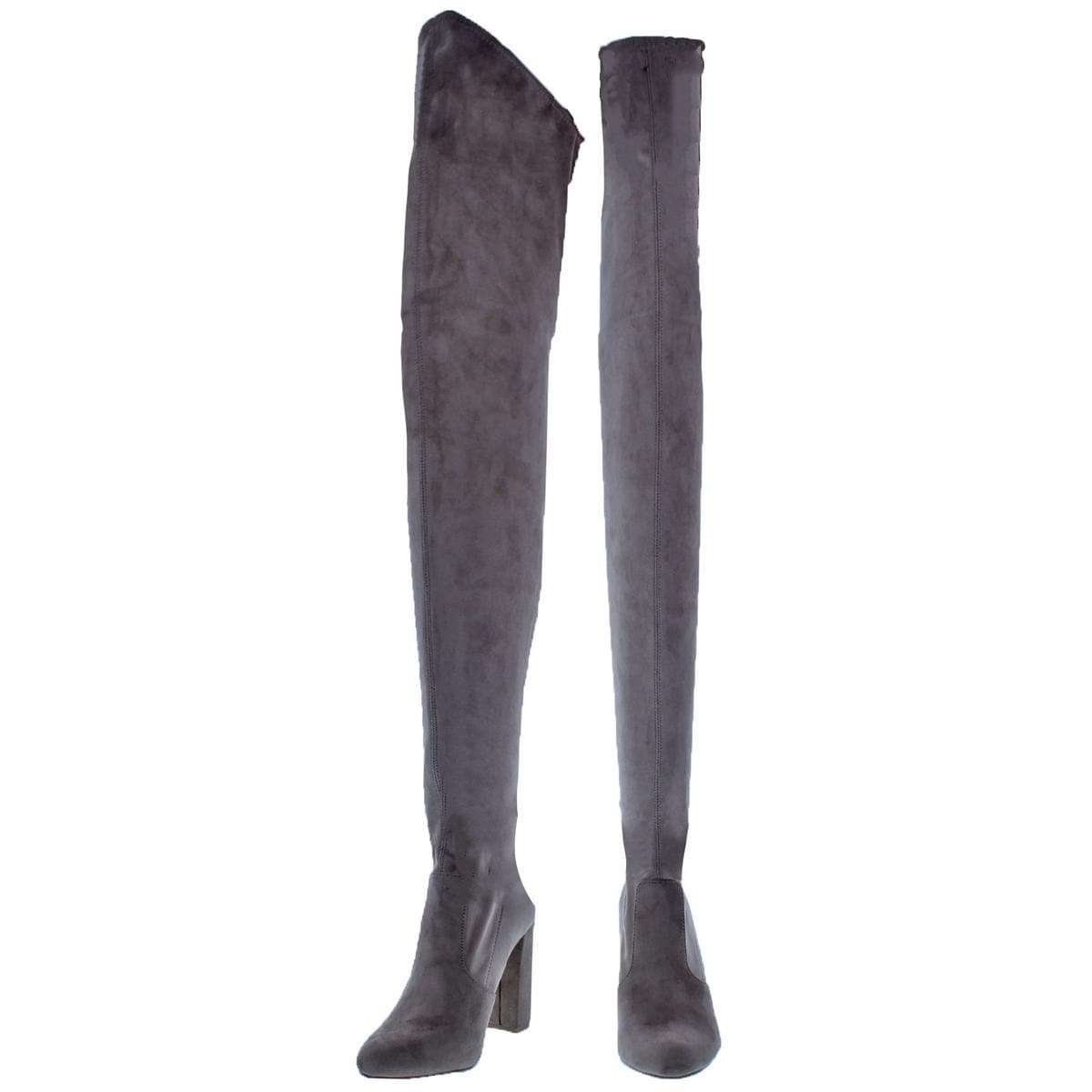 6e890fb42670 Shop Steve Madden Womens Elektric Thigh-High Boots Faux Suede Tall - On  Sale - Ships To Canada - Overstock - 24030625